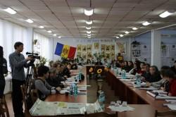 Jurnaliștii și autoritățile au discutat despre starea ariilor protejate din raionul Leova. Foto: AJMTEM, 14 martie 2014