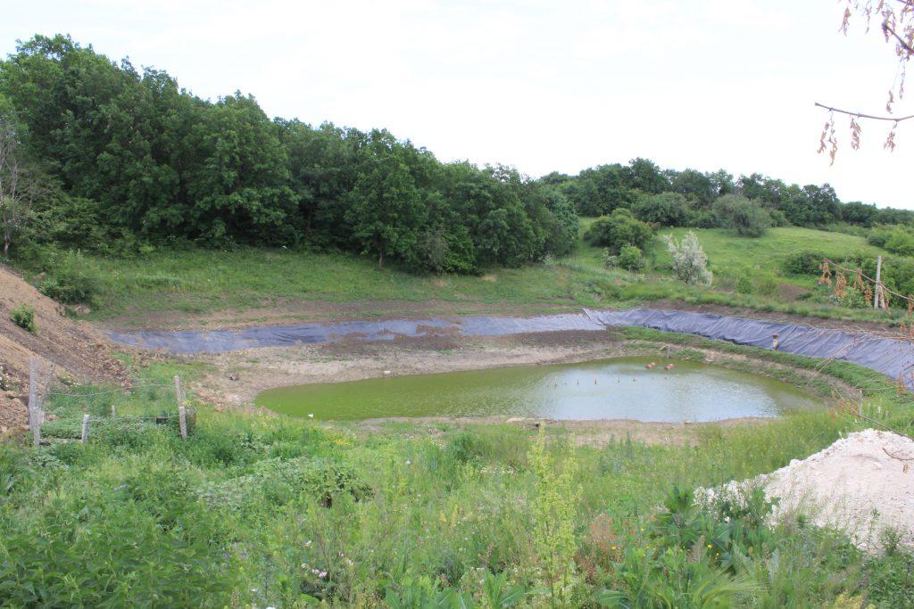 Bazin de acumulare a apei de ploaie. Foto: Ecopresa.md