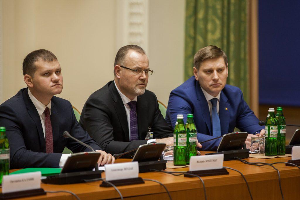 Subiectul hidrocentralor a fost discutat la Kiev, 13 februarie 2017. Foto: www.gov.md