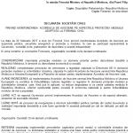 Zeci de organizații de mediu au transmis o Declarație Primului Ministru