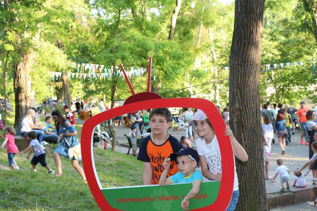 Atmosferă de sărbătoare la Ziua Mediului. Chișinău, 4 iunie 2017, Parcul Valea Morilor. Foto: Ecopresa.md
