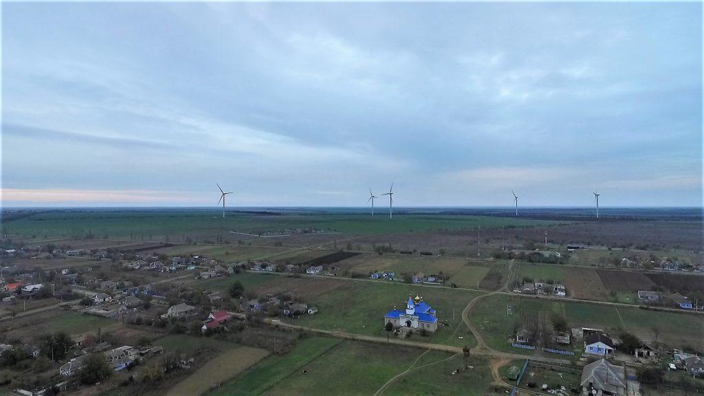 Tuzly, Ucraina, un sat în care eolienele determină noi proiecte investiționale