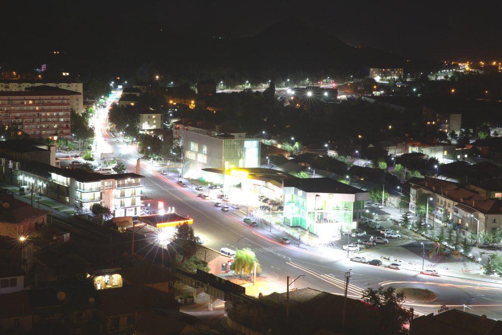 Iluminat stradal pe bază de leduri în orașul Akhaltsikhe