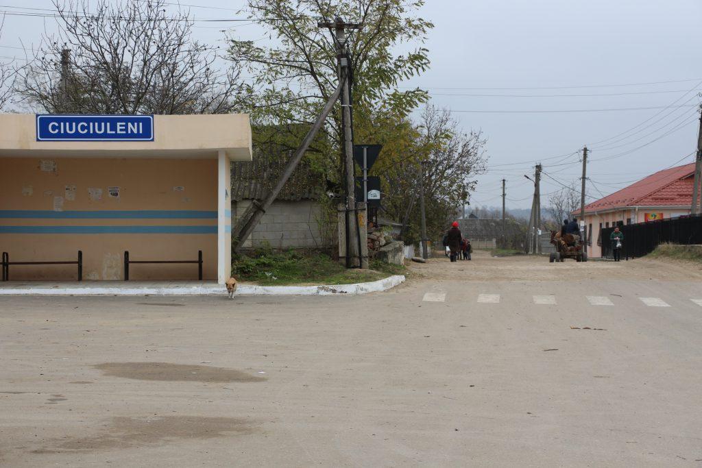 În centrul satului Ciuciuleni. Foto: Lilia Curchi