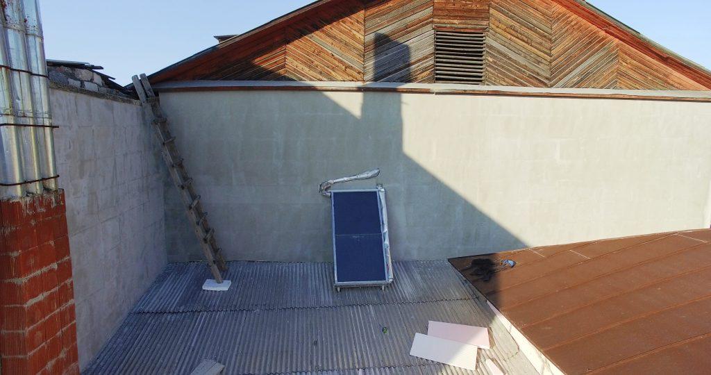 Colectorul solar instalat la Liceul Teologic de fete din Edineț