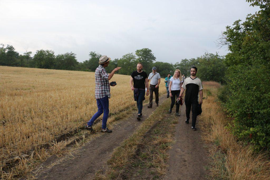 Gabriel Mărgineanu este ghid pentru jurnaliștii care au pornit să descopere frumusețile Nistrului de Jos
