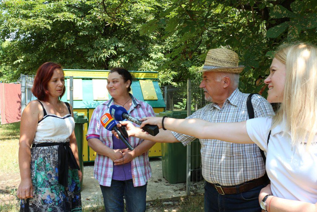 Platforma de colectare separată a deșeurilor este folosită ca material didactic de educatorii grădiniței din Palanca, Ștefan Vodă