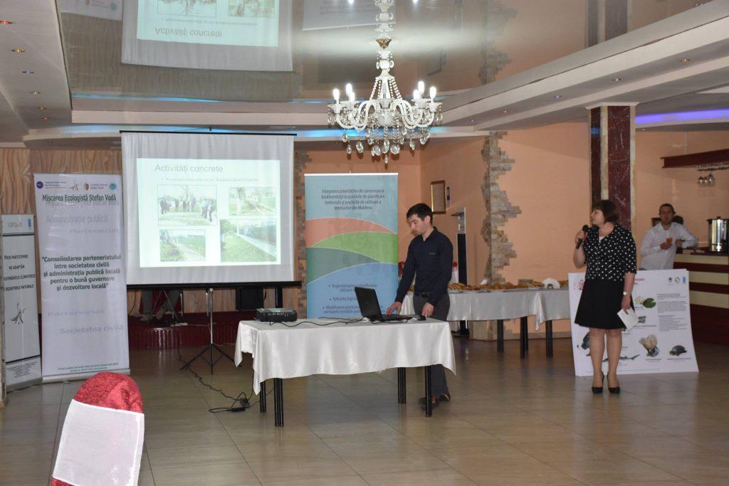 """Larisa Voloh, prima de Palanca, prezintă rezultatele proiectului """"Prin participare ne adaptăm la schimbările climatice și dezastrele naturale"""", susținut de GEF SGP Moldova"""