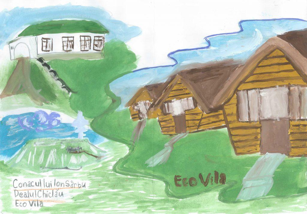 Vedere a satului Mașcăuți din perspectiva elevei Ludmila Carțîn