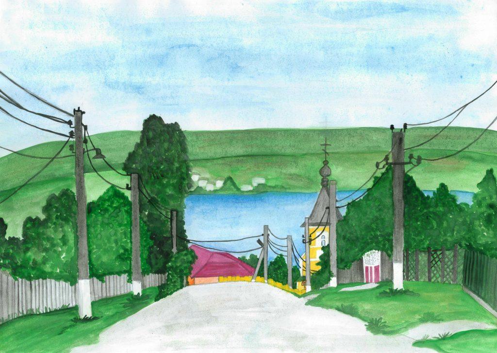 Bine ați venit la Marcăuți! Desen realizat de eleva Dorina Curcubet