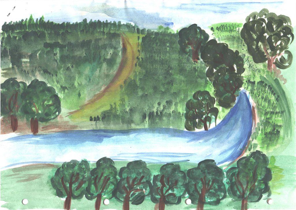 Pitorescul satului Furceni în viziunea elevei Eliza Gasper