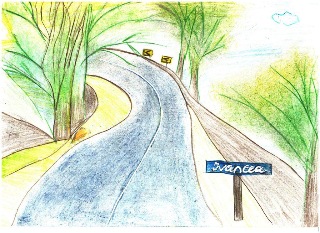 Drumul spre Ivancea desenat de Daniela Spătari