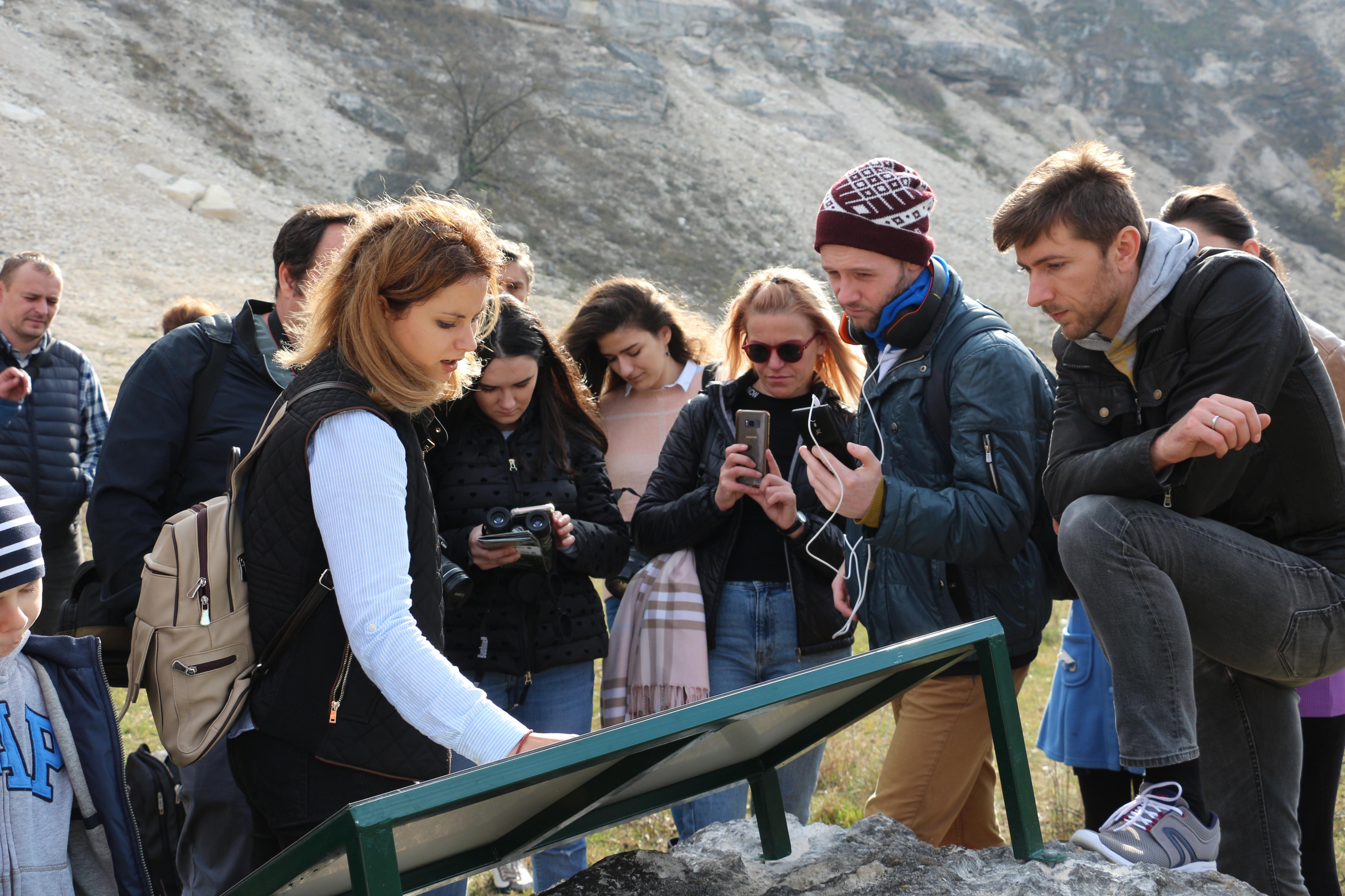 Prezentarea în teren a traseului de observare a păsărilor Trebujeni-Furceni
