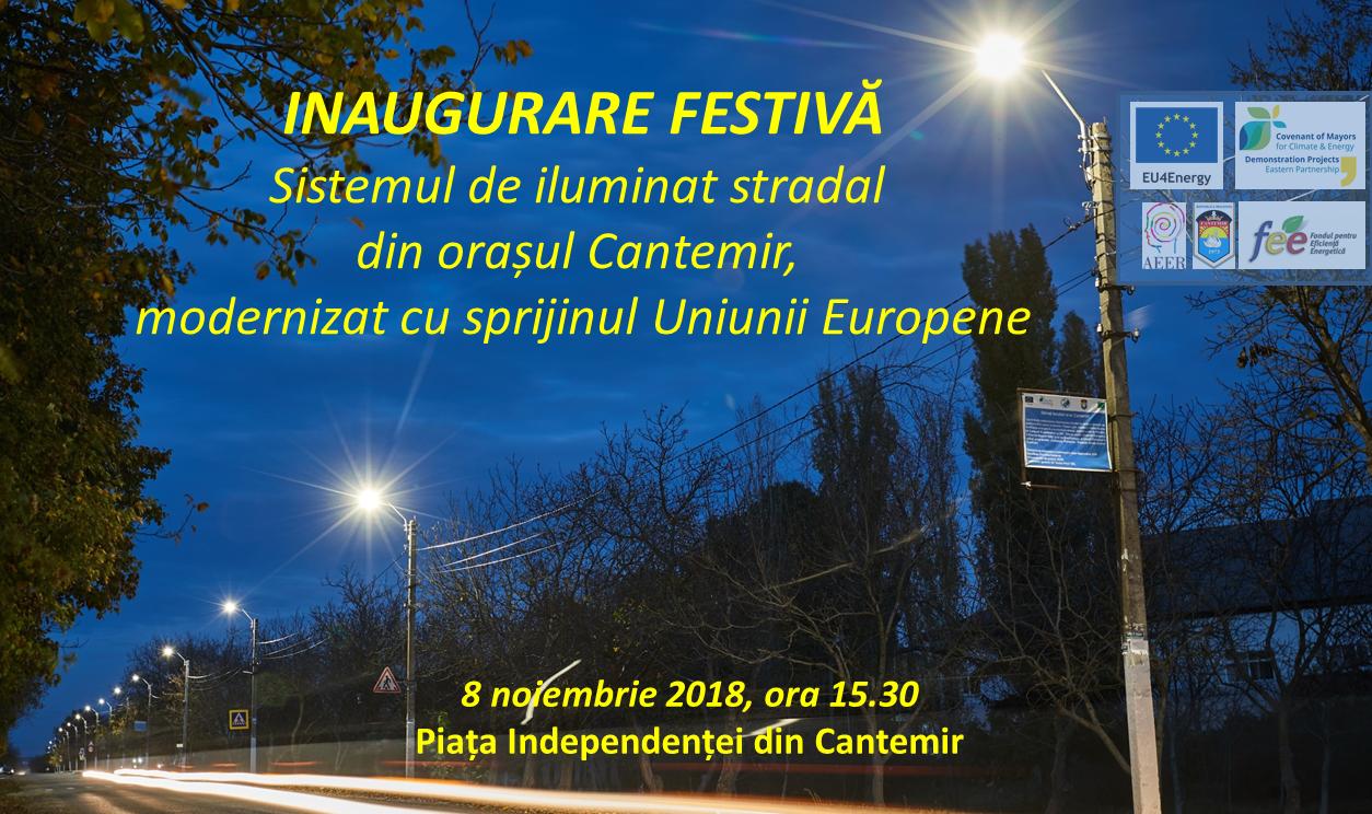 Invitație la Cantemir: inaugurarea iluminatului stradal inteligent și eficient