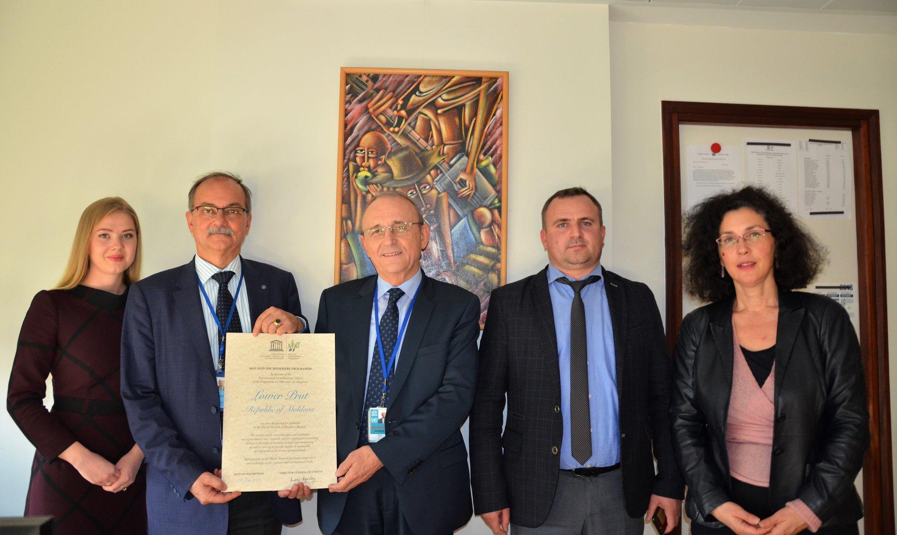 """Rezervația """"Prutul de Jos"""" a primit Certificatul UNESCO"""