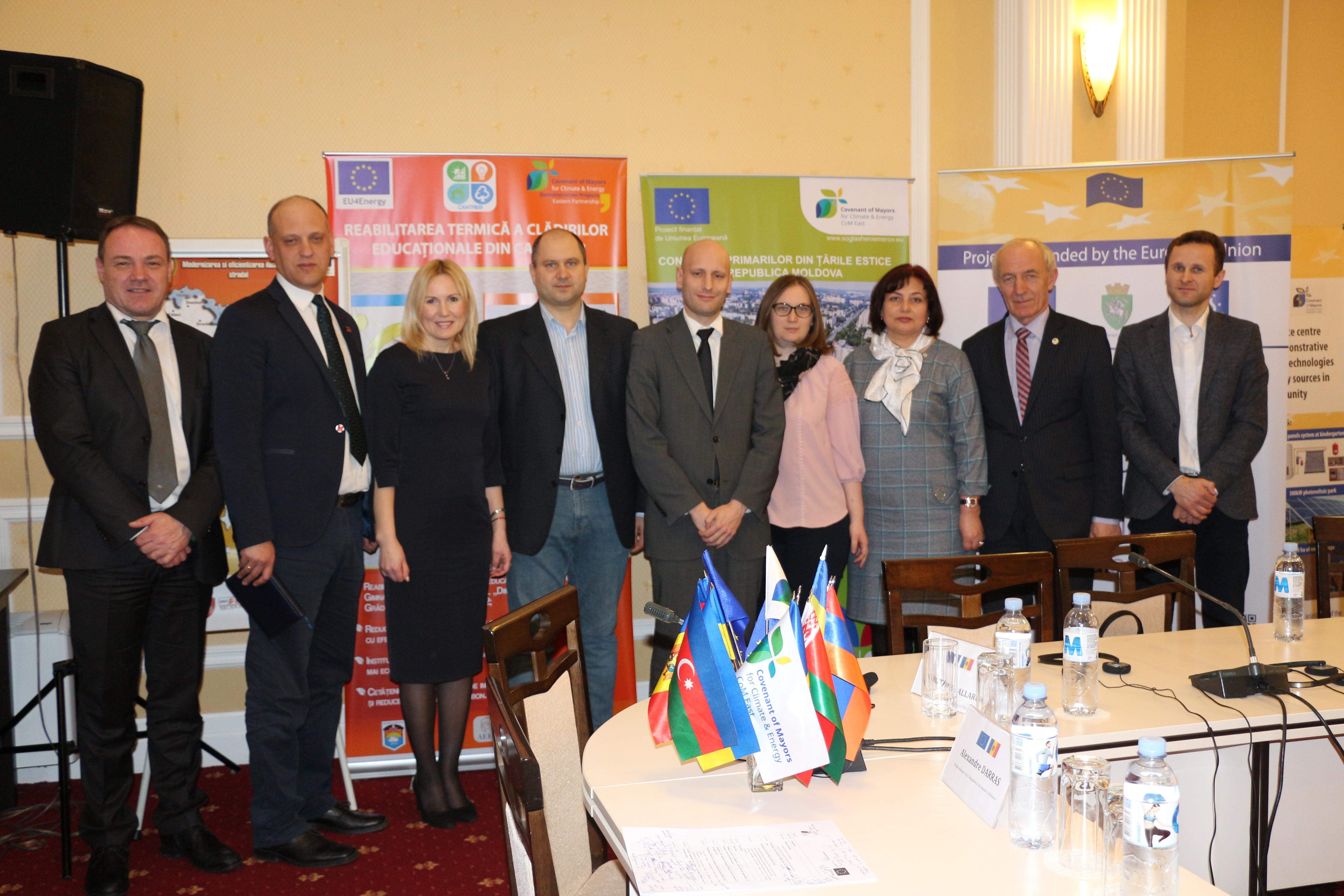 La evenimentul de lansare a proiectelor UE realizate în cadrul Programului Convenția Primarilor-Proiecte Demonstraționale, martie 2018
