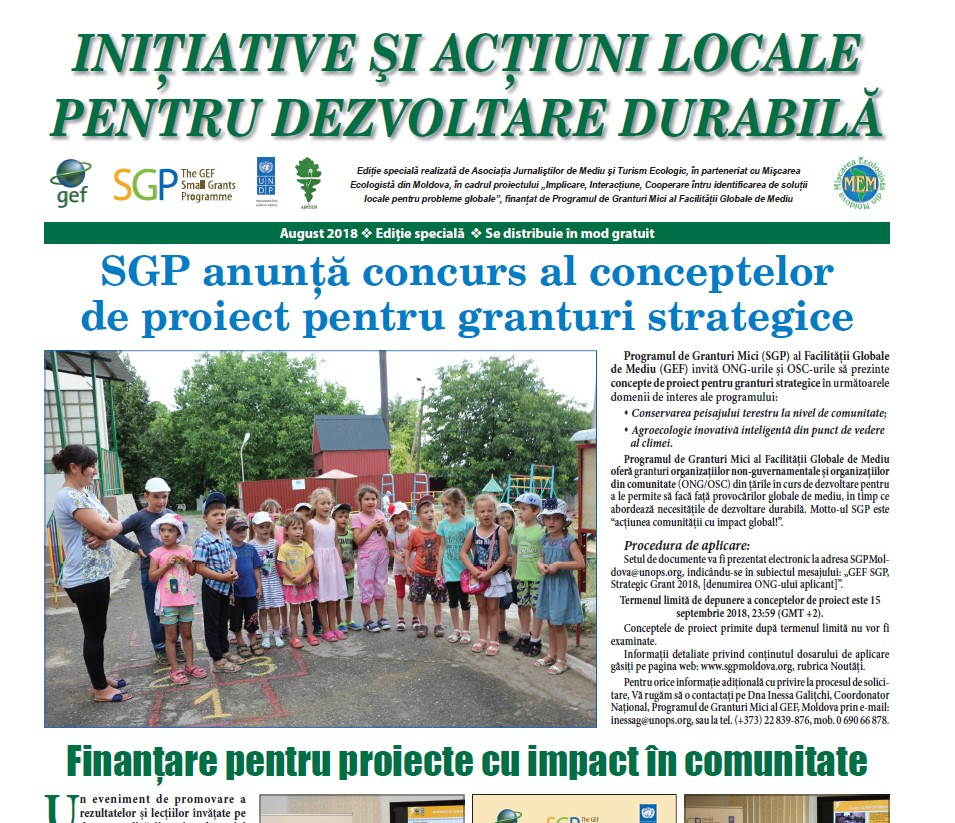 A doua ediție specială AJMTEM despre proiectele SGP Moldova