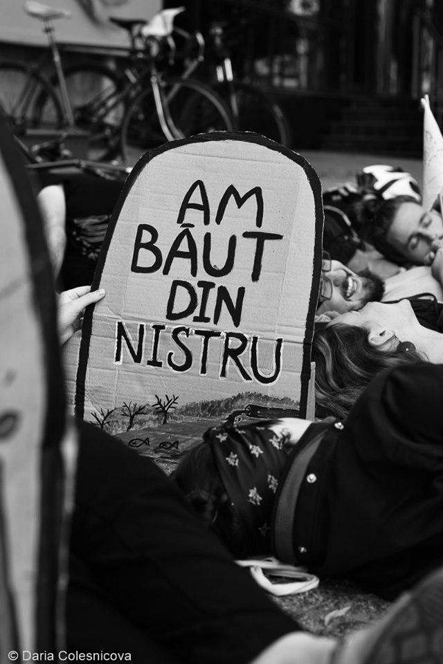 Acțiunea Die-in organizată la Chișinău de Extinction Rebellion Moldova Foto: Facebook/Extinction Rebellion Moldova