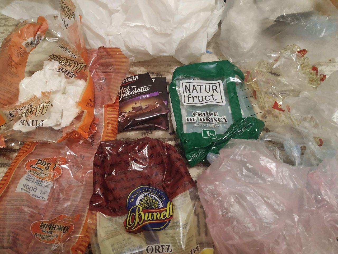 Pungi de plastic generate la o singură vizită la magazin