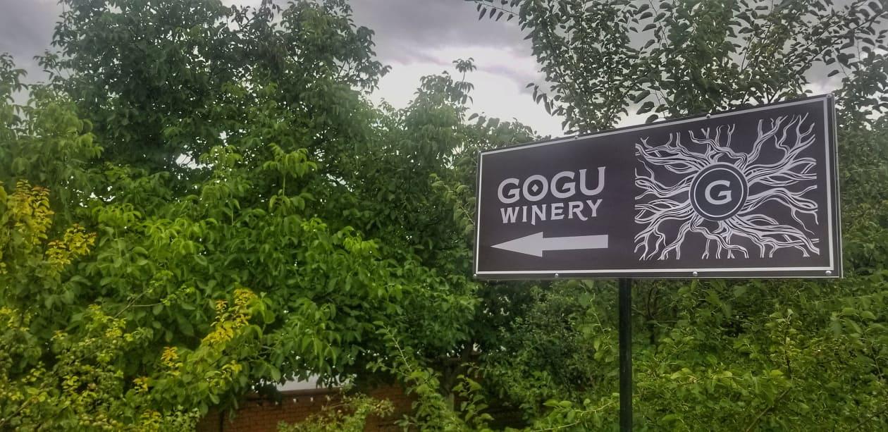 Indicator spre Gogu Winery, Căuşeni, Moldova Foto: Lucia Tăut
