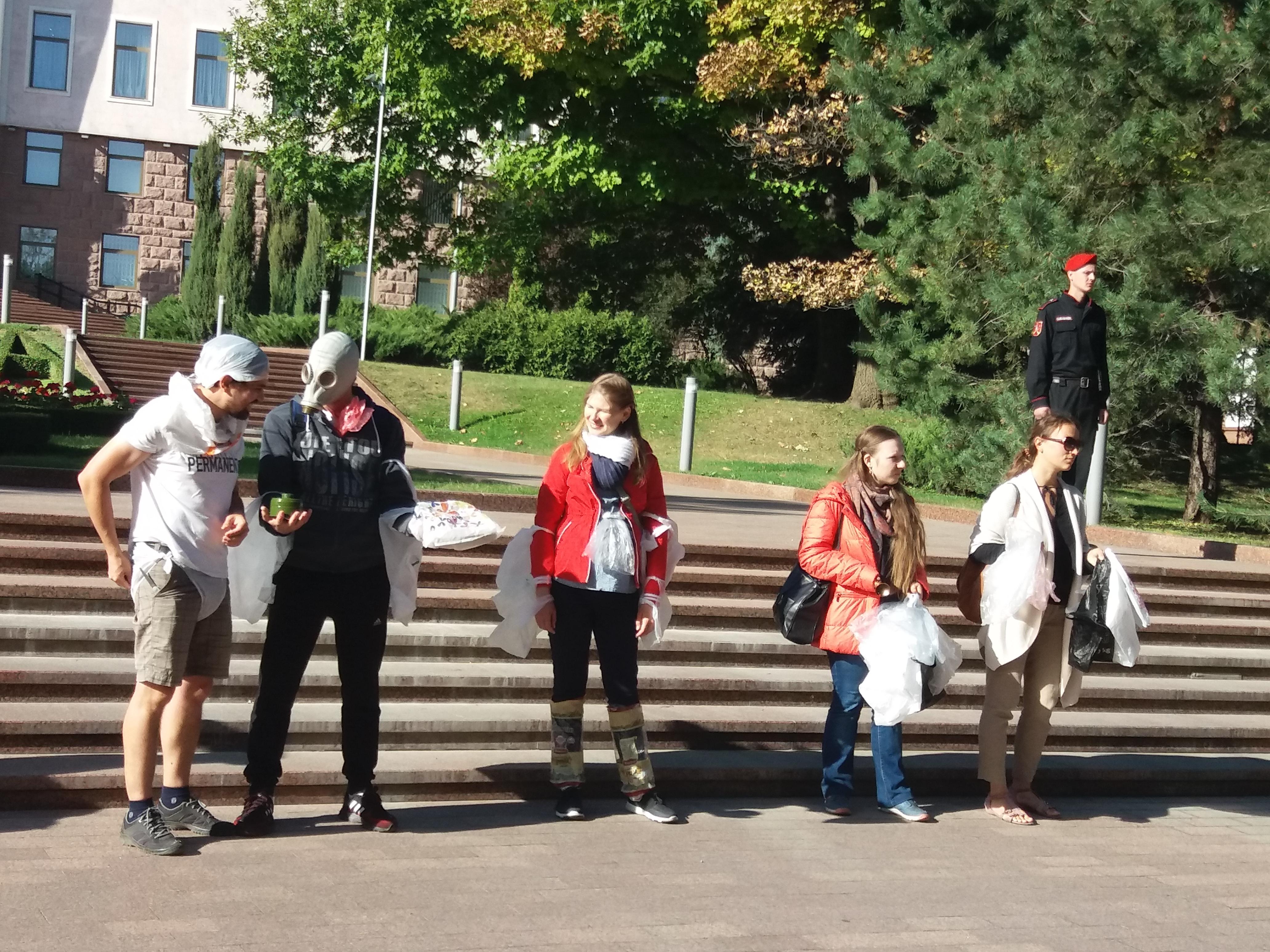 Flashmob în fața Parlamentului Republicii Moldova, 19 septembrie 2019