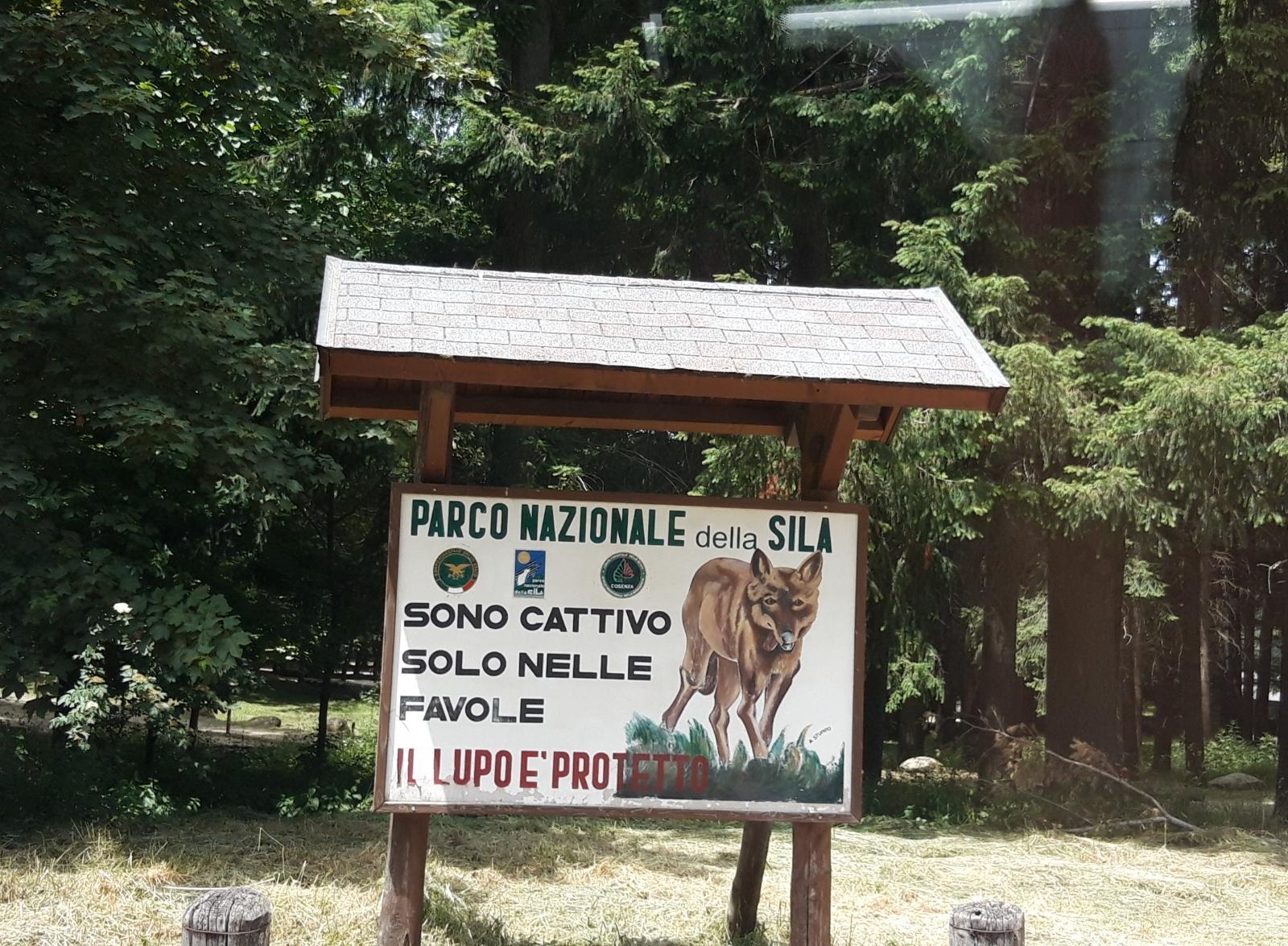 Panou informativ în Parcul Sila