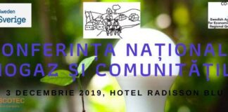 Conferința Națională Biogaz și Comunități, 3 decembrie 2019