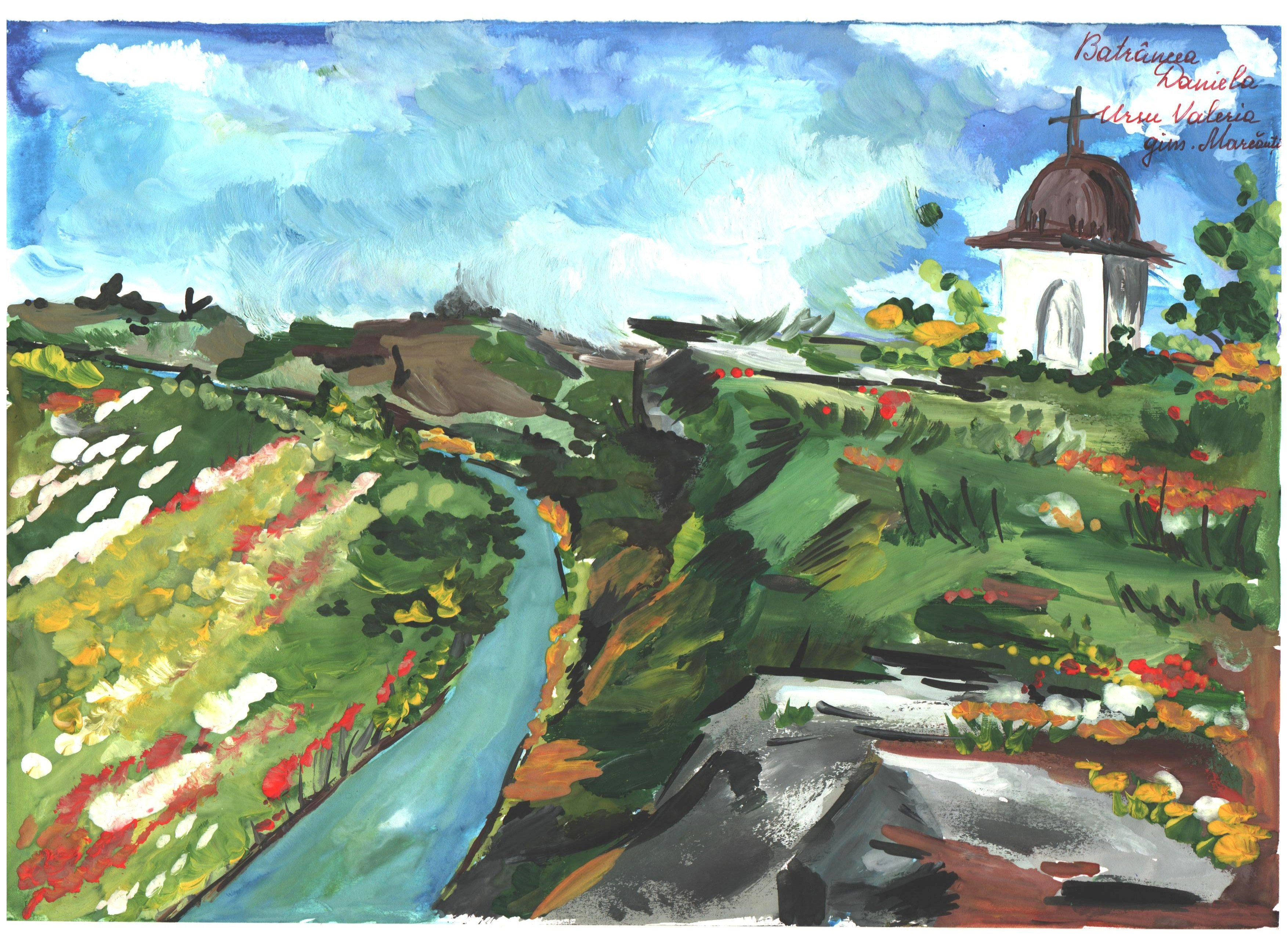 Carte poștală creată de Daniela Batrîncea și Valeria Ursu, s. Marcăuţi