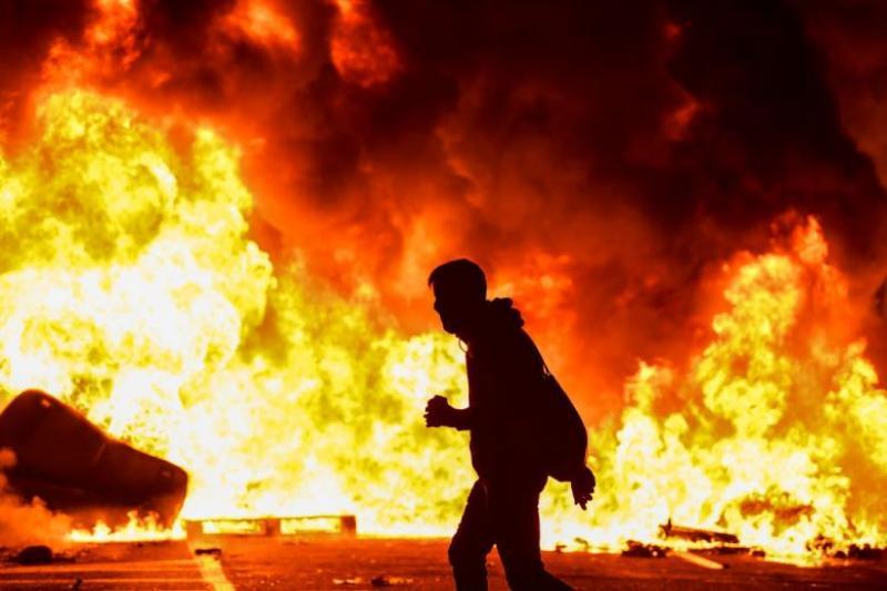 Imagine din timpul protestelor de la Barcelona, octombrie 2019. Foto: Guliver/GettyImages
