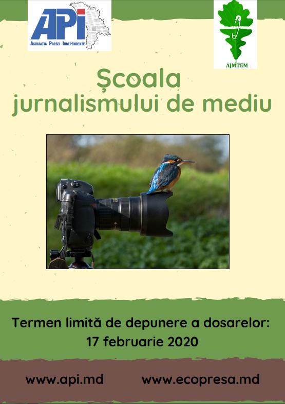Școala jurnalismului de mediu: instruiri, concurs de materiale și șansa de a participa la o vizită de studiu în UE