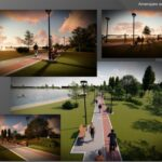 """FOTO/ În parcul """"La Izvor"""" a început construcția unui stadion de fotbal de plajă"""