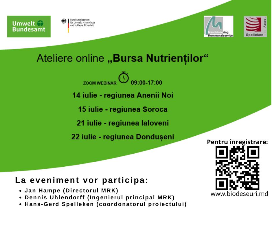 """Ateliere online """"Bursa nutrienților"""". Cum poți participa"""