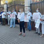 VIDEO/ Protest în fața ambasadei Belaruse din Chișinău. Manifestanții au cerut eliberarea activiștilor reținuți
