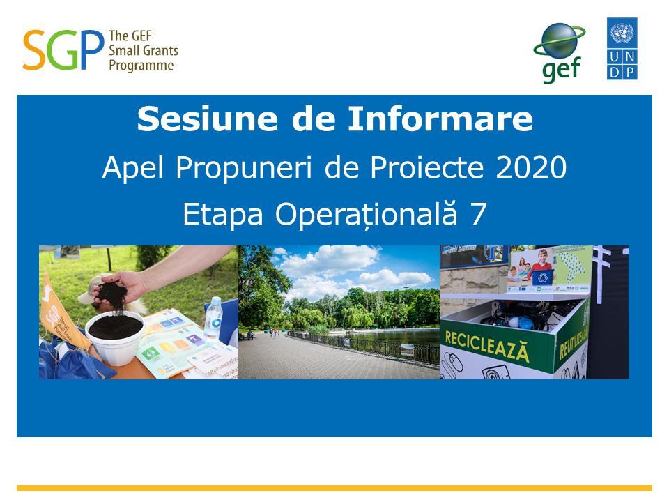 Sesiune de informare privind apelul pentru propuneri de proiecte de mediu. Cum poți participa și tu
