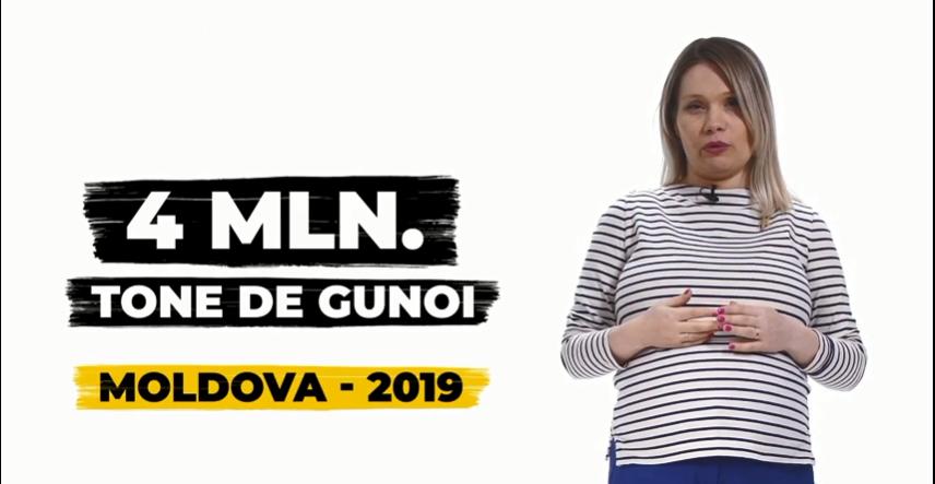 VIDEO/ Patru milioane tone de gunoi, generate în 2019. Ce se întâmplă cu deșeurile în Moldova
