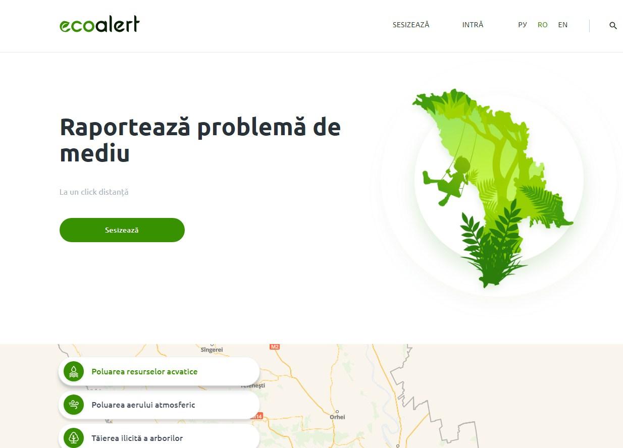 """""""ECO ALERT"""" – platforma prin care cetăţenii pot reclama problemele de mediu"""