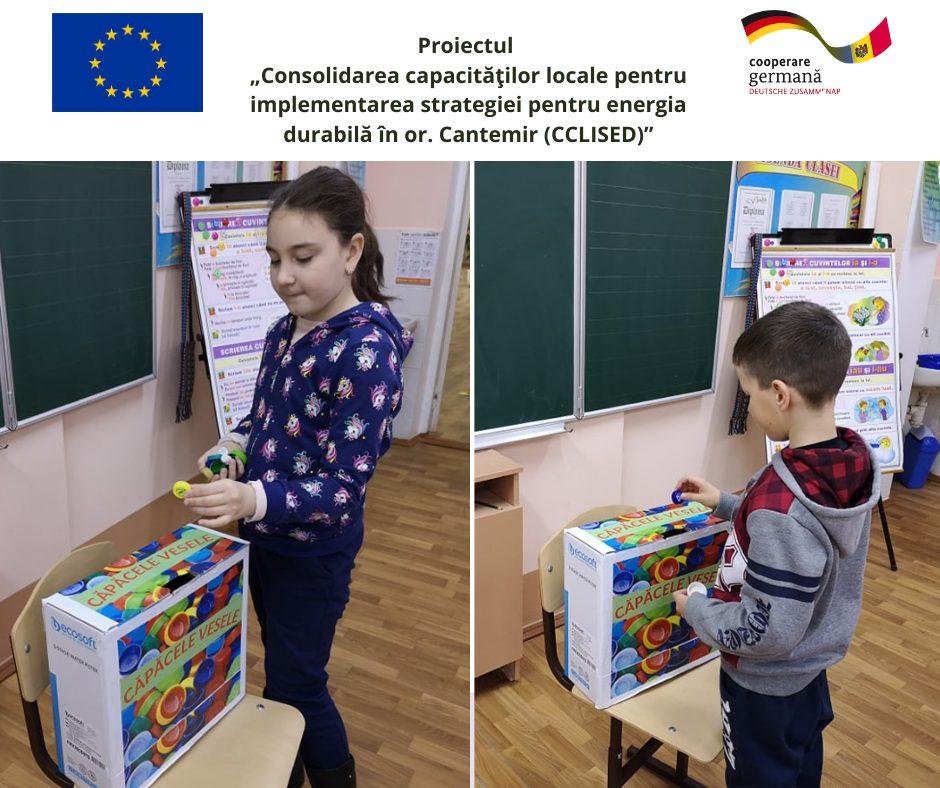 UE// De Ziua Globală a Reciclării, elevii din Cantemir adună căpăcele pentru reciclare