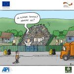 CARICATURA/ Oamenii și tariful pentru colectarea deșeurilor