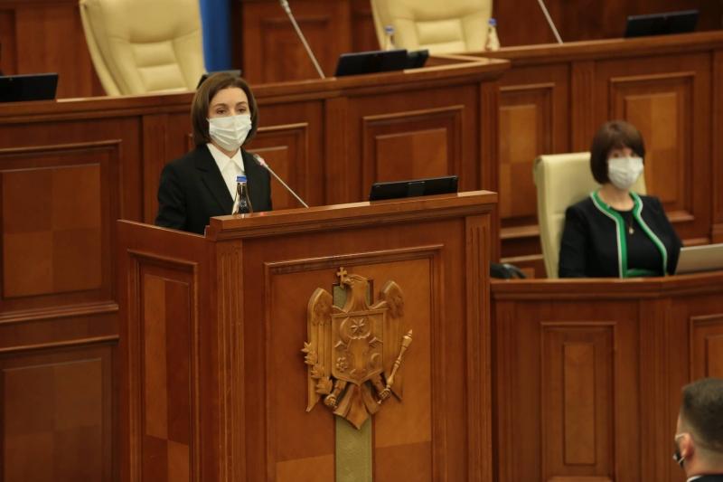 """Președinta Sandu, discurs în plenul Parlamentului: """"Schimbările climatice deja ne afectează țara"""""""