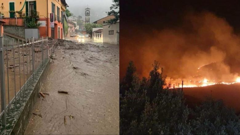 FOTO/ Vreme extremă în Italia. Inundații în nord și incendii în sudul țării