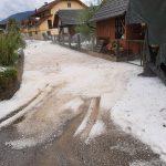 Foto: Grindină de proporții într-un oraș din Slovenia