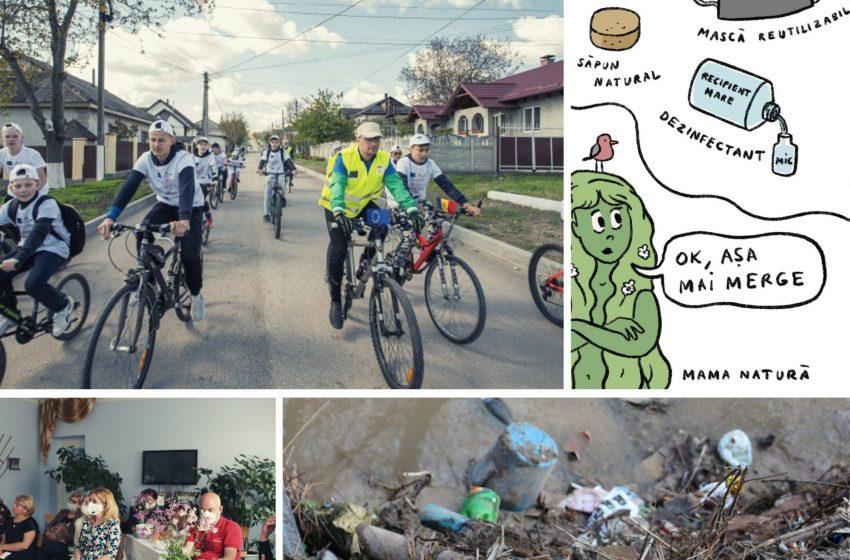 """DOC/ Velo maraton, comunitate de peste 400 de persoane și campanie de informare la Strășeni. Rezultatele proiectului """"Responsabilizare prin informare în localitățile codrene"""""""