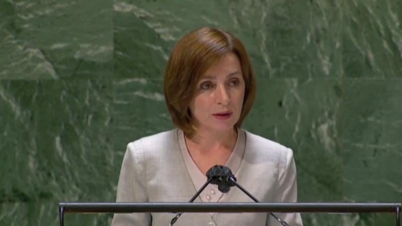 VIDEO/ Sandu, în discursul său la ONU, anunță că schimbările climatice sunt o provocare majoră pentru Moldova