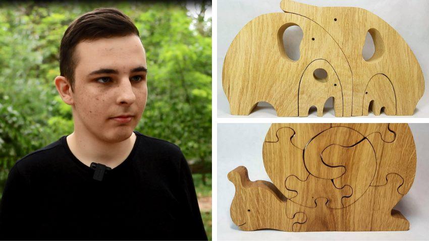 VIDEO/ Și-a transformat pasiunea în afacere. Un tânăr din Tiraspol confecționează jucării din lemn